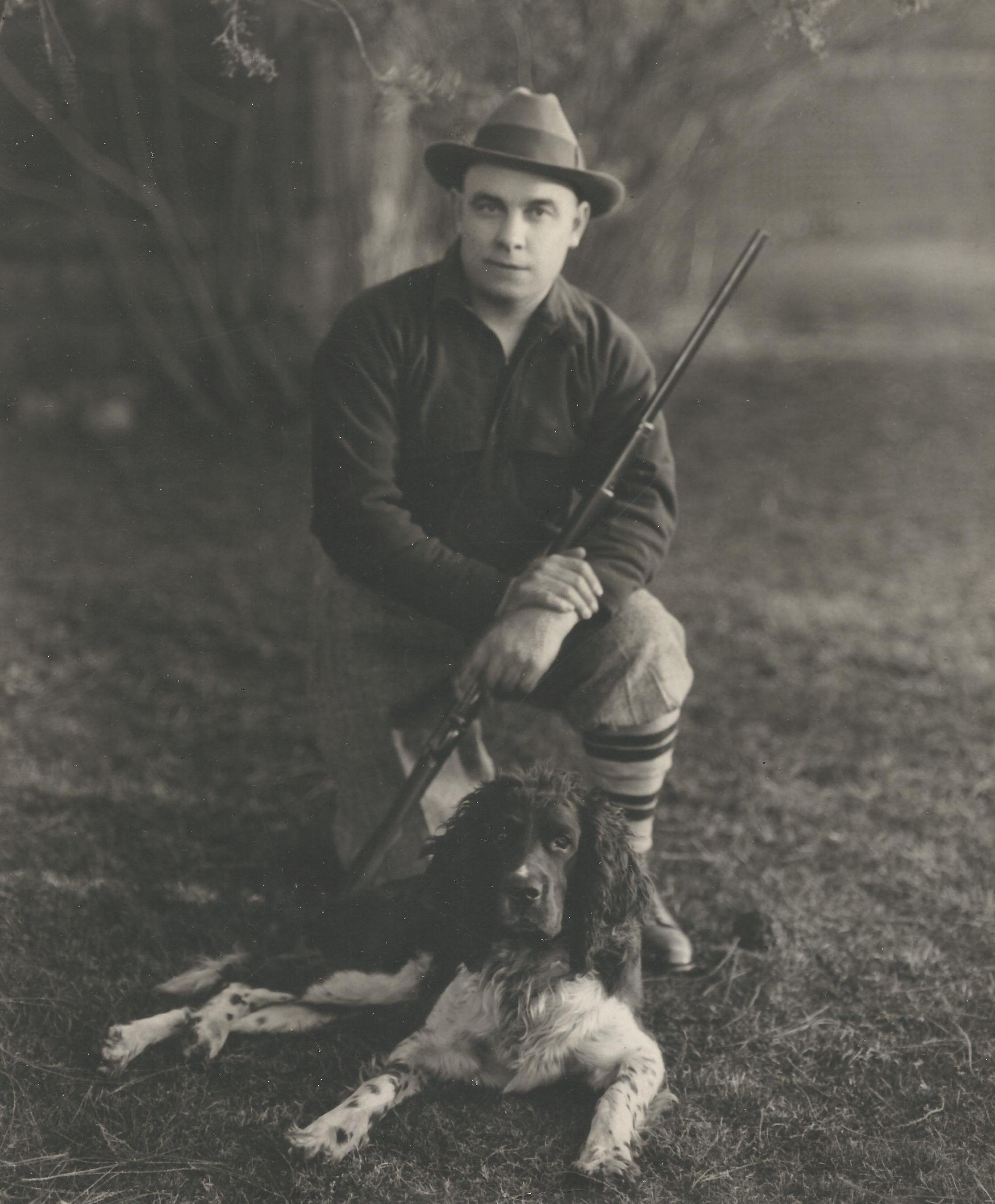 Clint with Gun and Dog